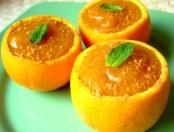 Postre citrico: Naranjas con crema
