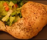 Pollo asado a las hierbas