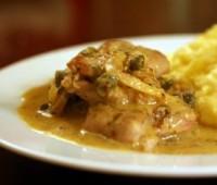 Pollo a la mostaza con papas al horno
