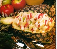 Ensalada de camarones con ananá
