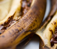 Bananas al horno  con chocolate