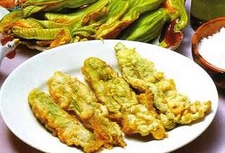 Flores de zapallo fritas cocinachic - Cocinar calabaza frita ...