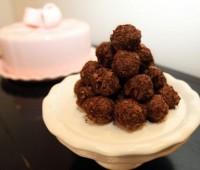 recetas dulces para mamá:tartufos de chocolate