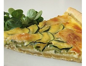 Quiché de zapallitos italianos