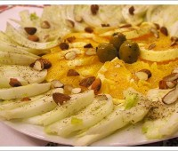 Ensalada de Hinojo, almendras y naranjas