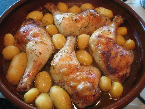 Pollo al horno con papas fritas imagenes taringa - Como cocinar pollo al horno ...