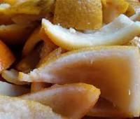 Cascaritas de naranja azucaradas