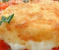 Mozzarella frita con salsa de tomate