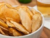 Chips de papas caseros