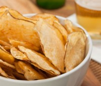 Chips de papas caseros