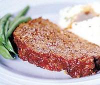 Pan de carne con ketchup