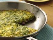 Tortilla con hierbas y jamón