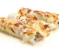 Canelones rellenos con zapallitos y queso