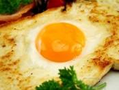 Pan Tostado con Huevo frito