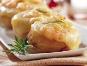 Papas rellenas con panceta y queso