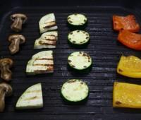 Brochets  de verduras grilladas