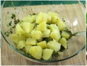 Ensalada de papas con salsita verde