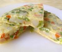 Tortilla de verduras: Ideal para realizar con restos de verduras