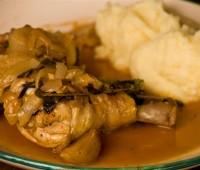 Pollo a la Portuguesa al disco