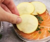 Salmón rosado al horno