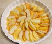 Clafoutis de duraznos (con frutas frescas)