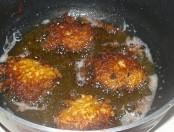 Yautía rallada frita