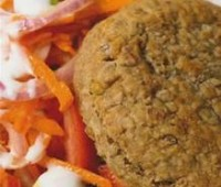 Hamburguesas vegetarianas de lentejas y arroz