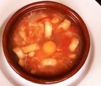 Sopa campestre de tomates y papas