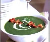 Sopa casera de brócoli y espinaca