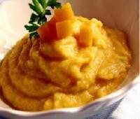 Puré de zanahoria, zapallo y choclo