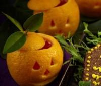 Postre para Halloween para chicos: Calabazas de naranja con gelatina