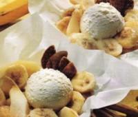 Frutas al horno con helado: Receta fácil de postre