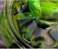 Aceite saborizado a la albahaca