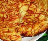 Tortilla de spaghetti ( especial para realizar con sobras)