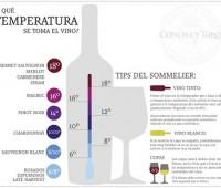 ¿A qué temperaturas se deben tomar los vinos?