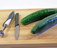 Cómo limpiar y cortar un pepino