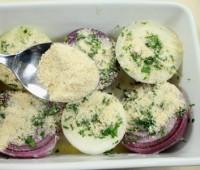 Cebollas al horno con perejil