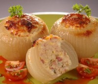 Cebollas rellenas: Receta vegetariana sabrosa