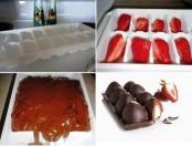 Como hago frutillas bañadas en chocolate?