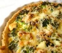 Tarta de Brócoli, queso y jamón