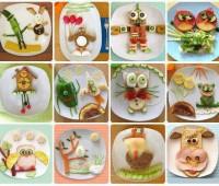 Arte culinario para chicos: Fotos de platos decorados para niños