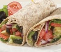 Wraps: Variante del taco o burrito relleno con ingredientes varios