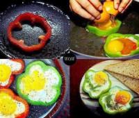 ¿Cómo hacer huevos con forma de flor?