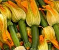 Flores de zapallitos fritas rellenas con muzarella