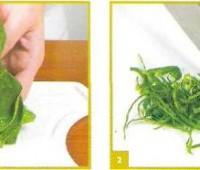 Corte Chiffonade: Corte para verduras de hojas grandes