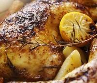 Pollo saborizado al horno