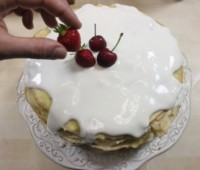 Torta de panqueque dulces