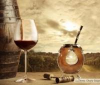 Vino y Mate: Bebida e infusión nacional