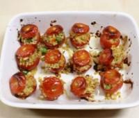 Tomates gratinados rellenos con trigo Bulgur