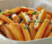Zanahorias especiadas con pasas